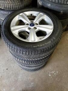 """Brand New and used 225 60 17 / 235 55 17 winter tires on 2017 OEM Ford Escape rims 5 x 108 / TPMS  //\\ 17"""" alloy rims"""