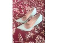 "Buffalo leather High Heels 4"" high size 4 patent mint"
