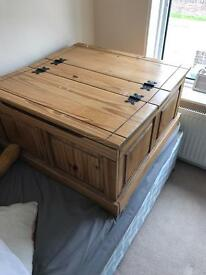 Large wooden storage box