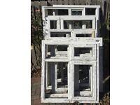 UPVC window frames and door - various sizes