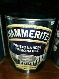 HAMMERITE PAINT 0.7L 2x BLACK AND 2x GREY