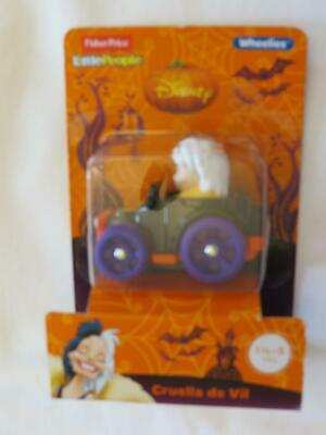 NEW Fisher Price Little People Disney Wheelies Car Cruella de Vil Halloween