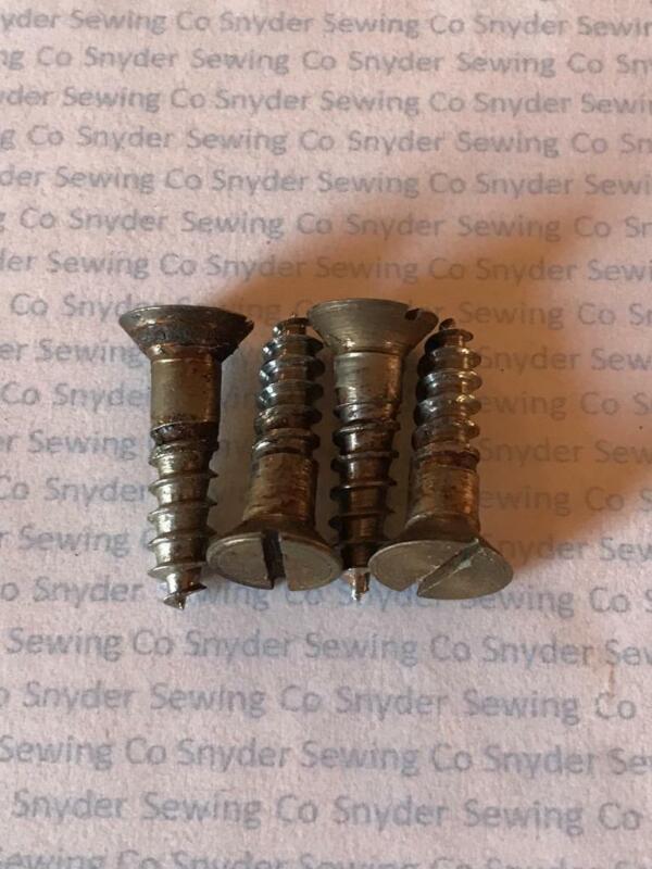 Genuine Singer Sewing Machine Treadle Cabinet Table/Base Set 4 Mounting Screws