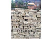 Limestone block walling stones!