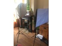 Softbox Light Stand Kit Set - Photo Studio 2x135W Soft Box Continuous Lighting