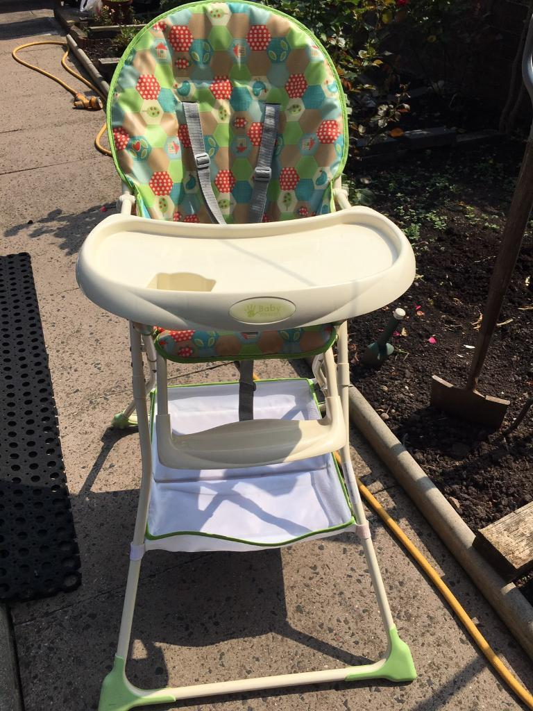 Baby weavers high chair with a toy
