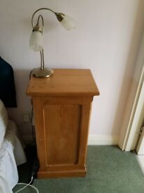 Bedroom pine bedside cabinets amd chest of drawers