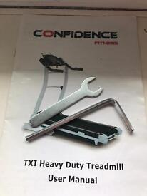 Confidence TXI heavy duty treadmill