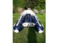 Honwave T30 AE2 Dinghy, alloy floor with Honda BF15 outboard