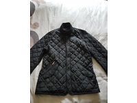 Mens Black Chelsea Quilt Barbour Jacket MEDIUM
