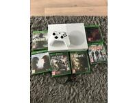 Xbox one s with 6 games as new
