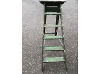 Vintage Wooden ladder 5 treads