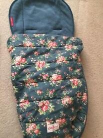 Cath kidson footmuff for pushchairs or maclaren