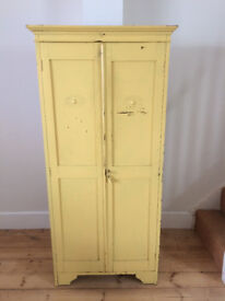 very cute yellow vintage children's wardrobe
