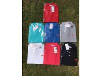 T shirts long sleeve £15 short sleeve polo £10 round neck £8