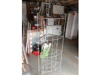 Ornate metal corner storage unit