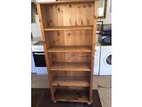 Tall pine bookcase, 4 shelves