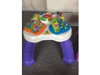 Walker, activity cube, activity table