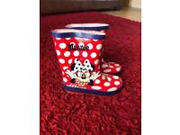 Minnie Mouse Wellies - infant size 9