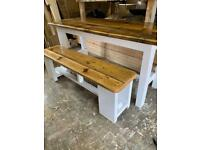 6ft farmhouse table and bench