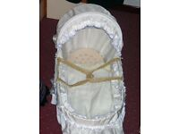 Baby's wicker carry crib.