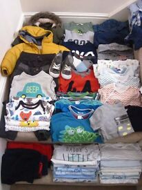 Baby boy -toddler size 1,5 - 2 years old clothes bundle for sale 53 items, Zara, M&s, H&M, Next,