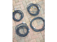 Top quality oxygen free quad core speaker cables nearly new