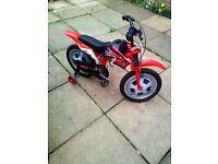 16 inch boys moto style bike