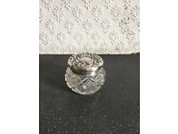 Antique Silver Topped Small Vanity Jar - Birmingham 1904