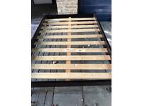 Nice solid wood bed and mattress for sale