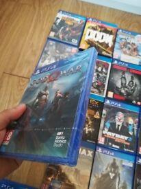 PlayStation 4 games, God of war, batman, etc