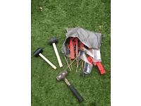 Bag of pegs for camping or caravanning awning