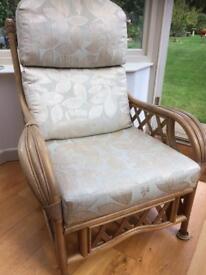 Three piece cane furniture set