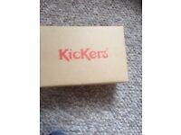 Brand new size 1 Kickers boys/girls school shoes