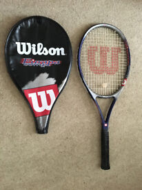 Wilson Tennis Racket and cover