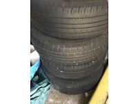 VW tyres with rims x 4