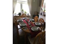 Dinning table with chairs & all accessories