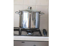 Stainless Steel Storage Bin-Large-for cooking or storing grain & seed for wild birds, animals.