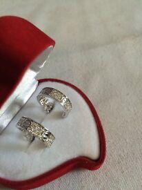 1.06ct Cartier style diamond earrings