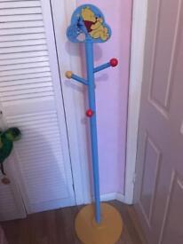 Disney Store Winnie The Pooh kids bedroom free standing coat rack hanger unisex Rare 5ft