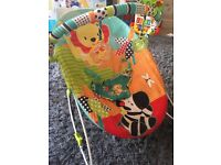 Bright starts Vibrating bouncer and door swing