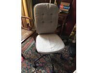 Ikea Lillhojden swivel chair / office chair / desk chair. Grey check cover.