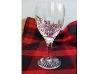 Crystal wine/water glasses