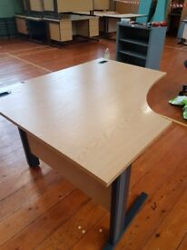 Office desks various sizes shapes and colors see pictures