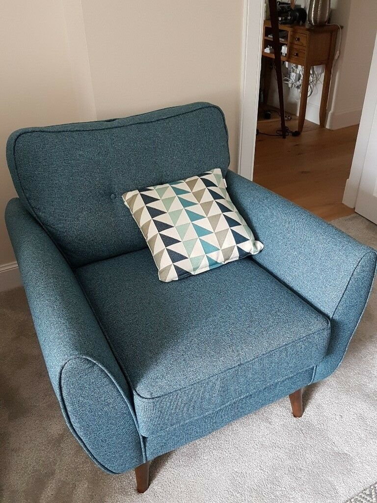 Designer Armchair French Connection Zinc In Teal In