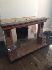 Free fireplace surround / mantle