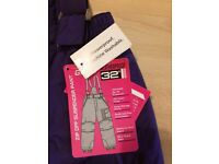 Girls down jacket and showerproof trousers