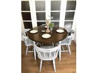 Solid wood table and chairs free delivery Ldn Shabby Chic