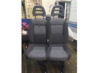 Twin front seats for van/motorhome etc