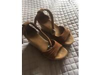 Ugg Wedge Suede Sandals Size UK 5.5